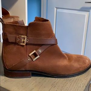C Wonder suede booties size 10